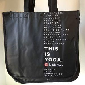 Set of 5 Black lululemon Shopping Bag Totes